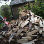 Fente de bois avec fendeuse - Lbo Services